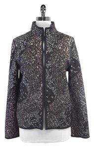 Missoni Grey Print Wool Blend Knit Knit Jacket