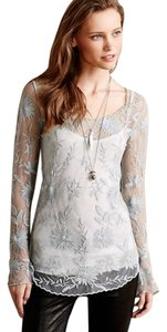 Anthropologie Top Grey Blue