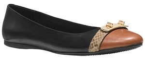 Coach 7.5 9.5 Black / Saddle Flats