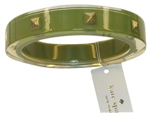 Kate Spade Kate Spade Pyramid Bangle Bracelet NWT Retro Olive Green & 12K Gold Plate