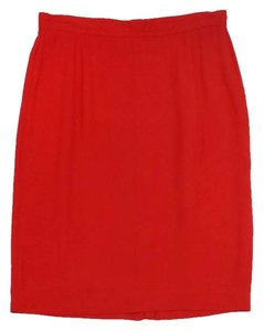 Donna Karan Red Pencil Pencil Skirt