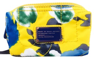 Marc by Marc Jacobs Marc By Marc Jacobs Yellow And Blue Floral Print Small Cosmetics Nylon Bag New