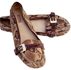 Michael Kors Suede Snakeskin print - Black, Brown, Tan Flats