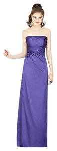 Dessy Strapless Satin Full Length Dress