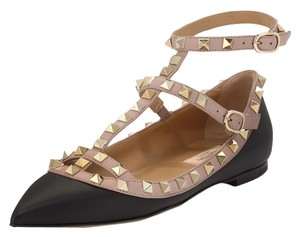 Valentino Leather Studded Caged Black 39(EU) NWT Flats