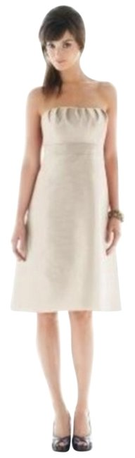 Preload https://item1.tradesy.com/images/alfred-sung-champagne-442cocktail-dresschampagnesz-short-cocktail-dress-size-6-s-945210-0-0.jpg?width=400&height=650