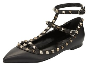 Valentino Leather Studded Caged Black 35(EU) NWT Flats