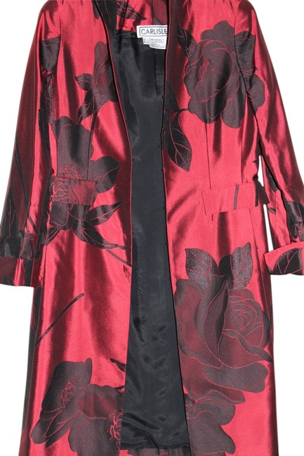 Item - Red and Black Silk Jacket Size 2 (XS)