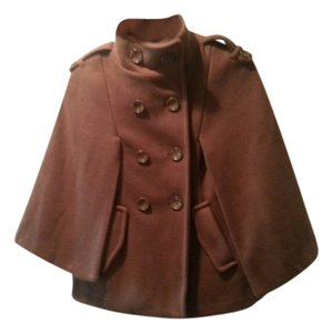 Papaya Cape Poncho Brown Jacket