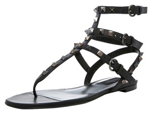 Valentino Leather Rockstud Black 35.5(EU) NWT Sandals