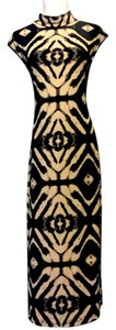 brown/tan Maxi Dress by Neiman Marcus
