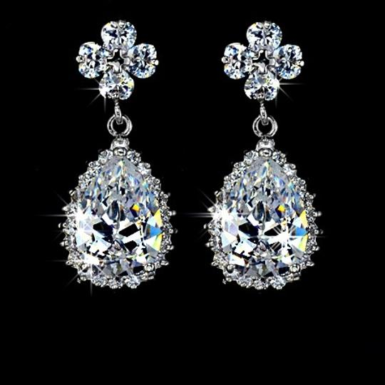 Preload https://item1.tradesy.com/images/white-cubic-zirconia-teardrop-sparkly-crystal-dangle-bridesmaid-gift-earrings-945430-0-0.jpg?width=440&height=440