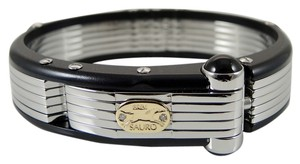 Sauro Sauro Men's Stainless Steel 18K Diamond Bakelite Bracelet
