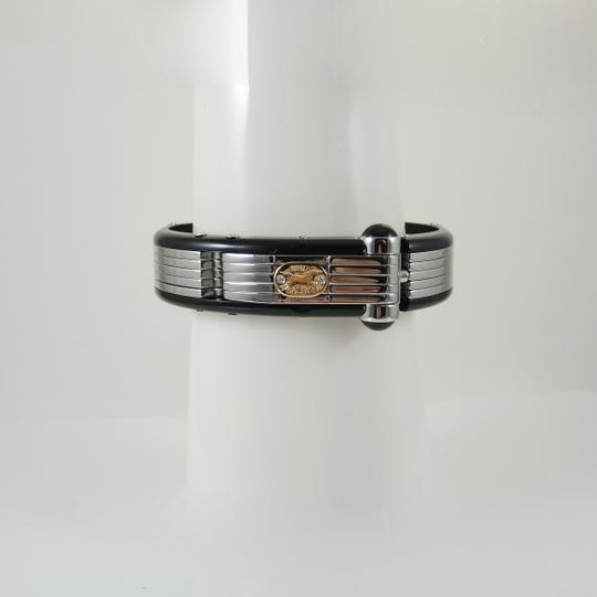 Sauro Men S Stainless Steel 18k Diamond Bakelite Bracelet