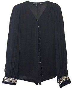 Elizabeth and James Button Down Shirt black