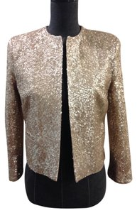 Haute Hippie Jacket Top Gold Sequins