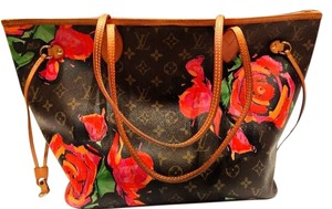 Louis Vuitton Sprouse Neverfull Limited Edition Tote in Pink/brown