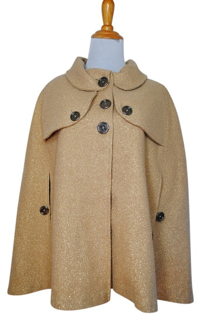 Preload https://img-static.tradesy.com/item/9455806/burberry-gold-metallic-wool-coat-jacket-ponchocape-size-os-one-size-0-1-650-650.jpg