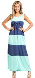 mint, navy Maxi Dress by agenda