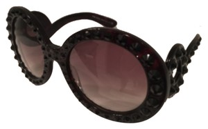 Prada Oversized Baroque Round Sunglasses