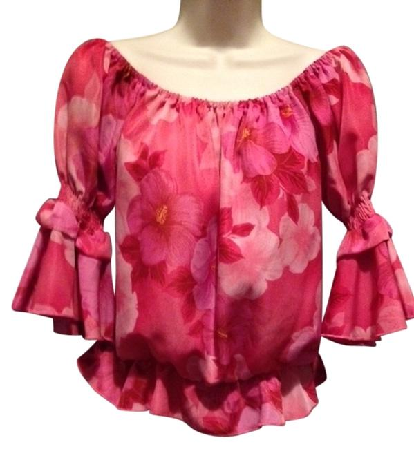 Item - Pink/Floral Tunic Size 8 (M)