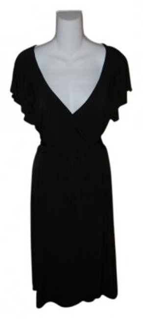 Preload https://item3.tradesy.com/images/george-black-simple-wrap-short-casual-dress-size-14-l-9457-0-0.jpg?width=400&height=650
