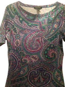 Ralph Lauren Size L Size 12 Top Multicolored Paisley