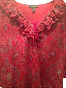 Lauren Ralph Lauren Lauen Top Red