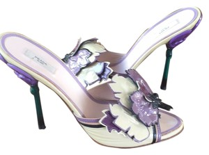 Prada Ivory purple green Pumps