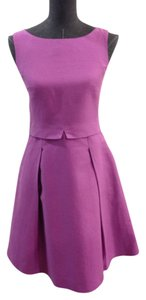 Max Mara short dress Purple Cotton Linen on Tradesy
