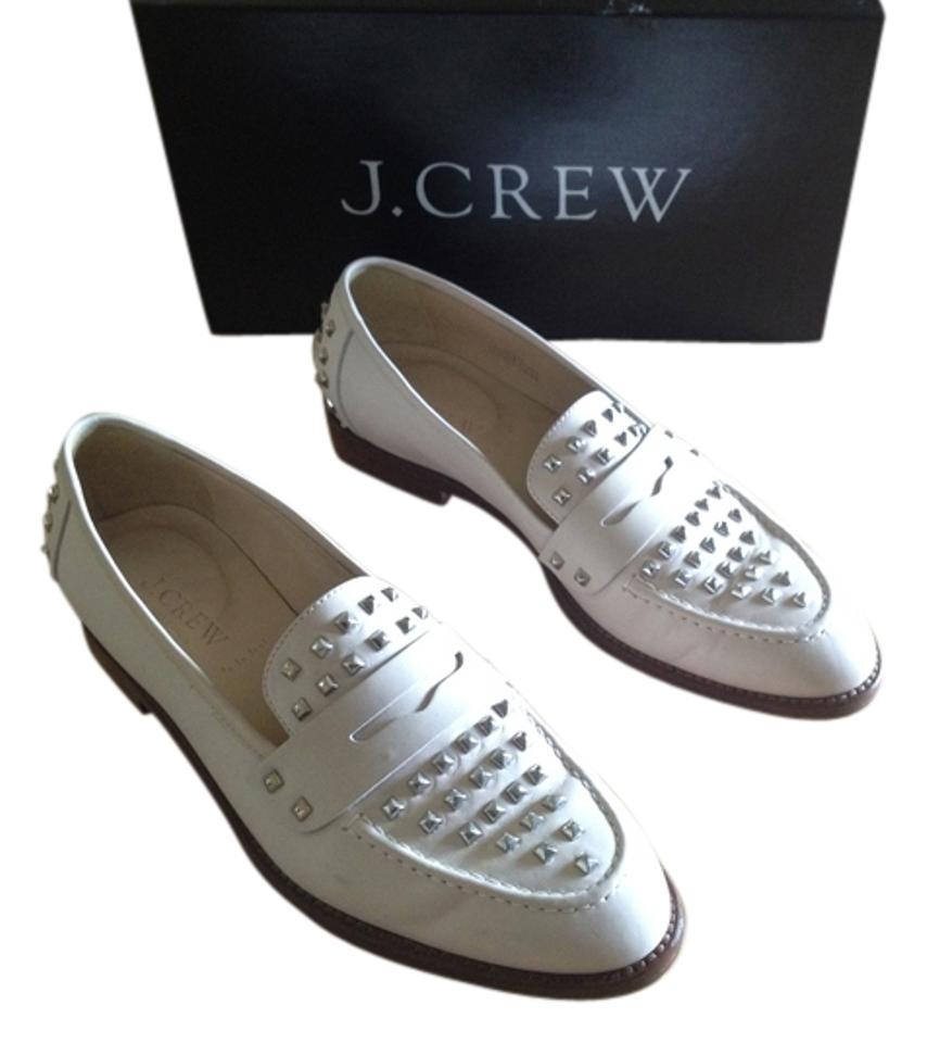 J.Crew Fresh Cream Cream Cream Collection Studded Penny Loafers Flats 94a149