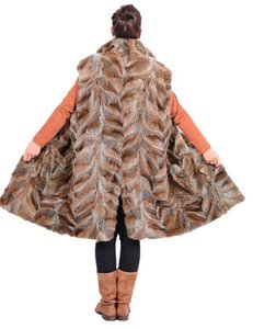 FOX FUR Blue Vest