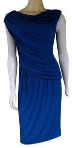 Maggy London Ruched Stretch Draped Dress