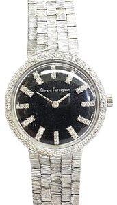Girard-Perregaux Girard Perregaux Vintage 14 Karat White Gold Watch With 76 Diamonds Mechanical Movement