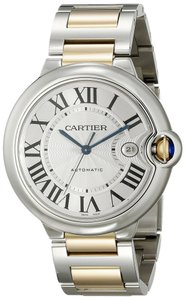 Cartier CARTIER Ballon Bleu 18K Gold and Steel 42mm Mens Watch REF : W69009Z3