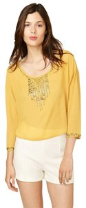 Isabel Lu Girl's Party Wear New Year's Holiday Party Cocktail Fun Top golden yellow