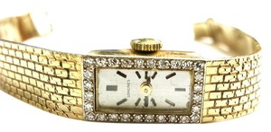 Longines LONGINES Vintage 14 Karat Yellow Gold Watch With 28 Diamonds, Mechanical Movement