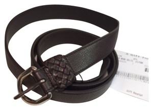 Gucci Gucci belt men 336828 brown soft leather size 42