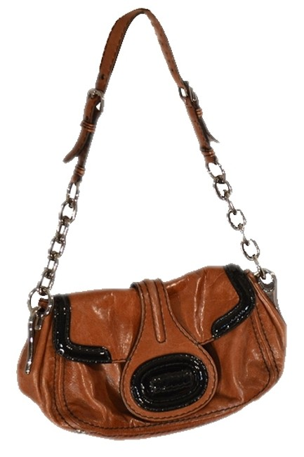 Item - Brow/Black/Silver Leather Shoulder Bag