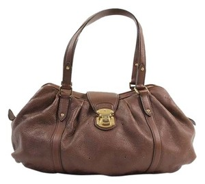 Louis Vuitton Mahina Satchel in Brown