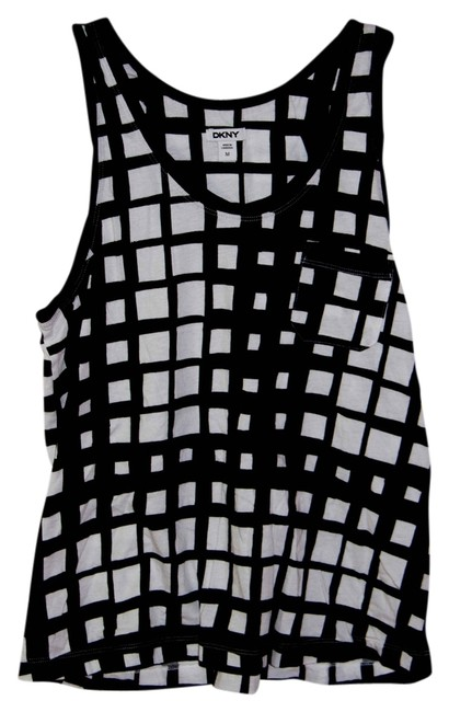 DKNY Top Black and White