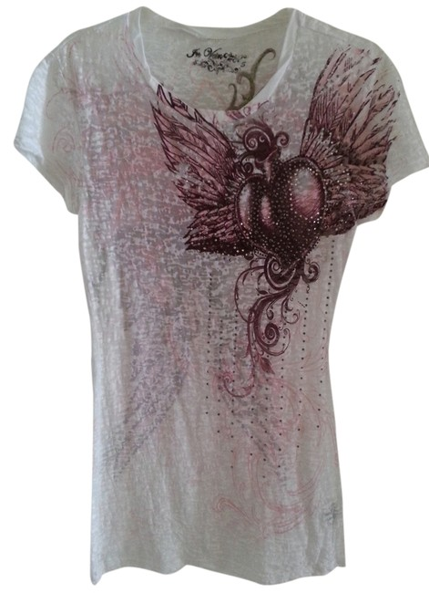 Preload https://item2.tradesy.com/images/white-heartwings-tee-shirt-size-4-s-946156-0-0.jpg?width=400&height=650