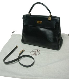 Hermès Hermes Kelly Satchel in Black (Hardware: Gold)
