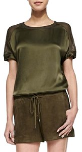 Vince Suede Boxer Leather Leather Pants Suede Suede Pants Goatskin Suede Dress Shorts HUNTER GREEN