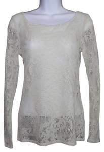 Ella Moss Lace Stretch Hand Wash Top Ivory