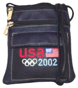 Roots Leather Olympic Mini Travil Cross Body Bag