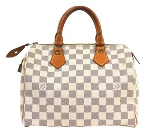 Louis Vuitton Speedy Speedy Satchel in White