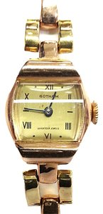 Gotham GOTHAM Vintage Two tone 14 Karat Gold Watch