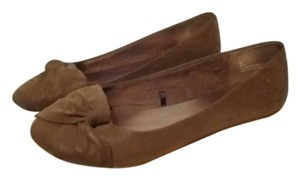 Maurices Suede Knot Camel Flats