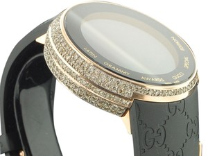 Gucci Mens Limited Edition Latin Grammy Diamond I-gucci Ya114222 Digital Watch 5 Ct.